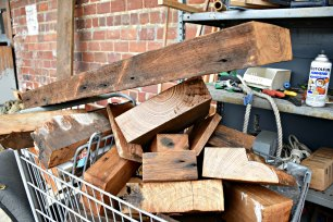 cart of wood