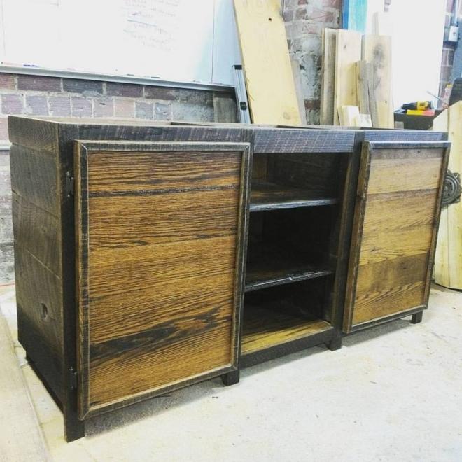 Barn Wood Vanity, built in our Wood Shop by Billy Leeka