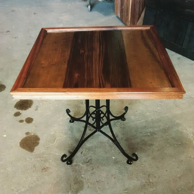 Square Top Table built in our Wood Shop by Billy Leeka