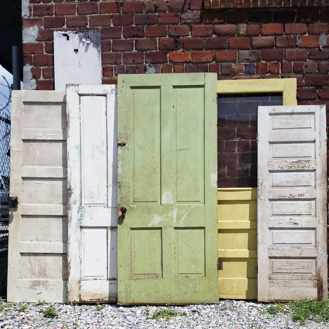 Antique And Vintage Doors - Architectural Antiques Doors & Antique Pair Painted Wood 6 Raised