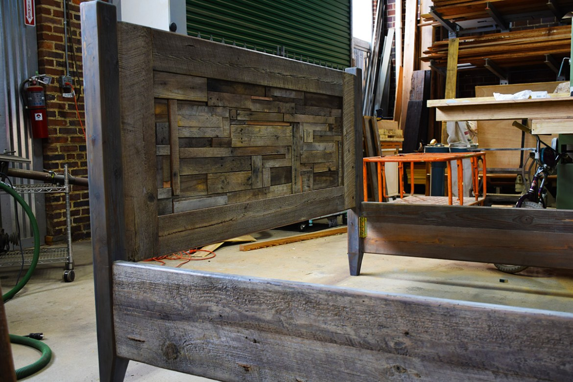 After a few modifications the Headboard is ready for it's new home!