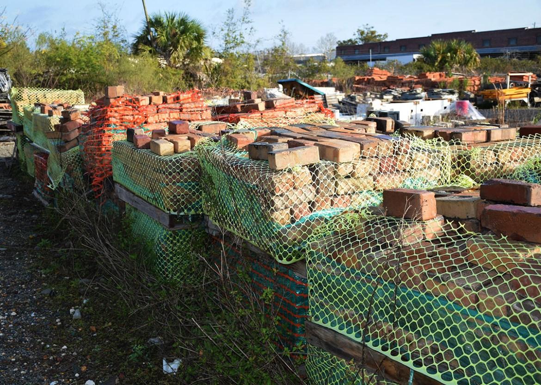 Salvage clay brick pavers