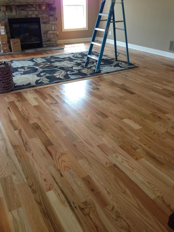 Oak Hardwood floor finished