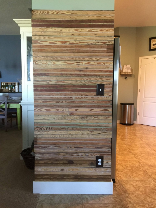 Salvaged Bead Board accent wall