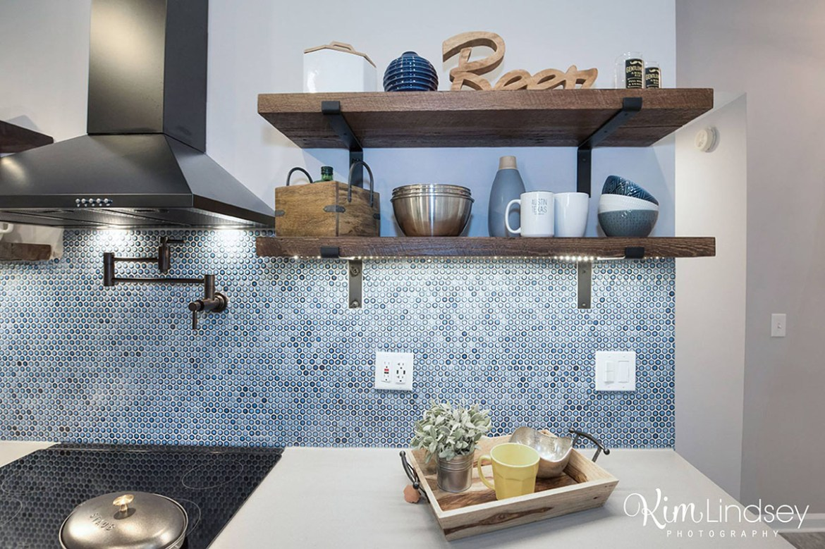Custom kitchen shelving Level UP Design