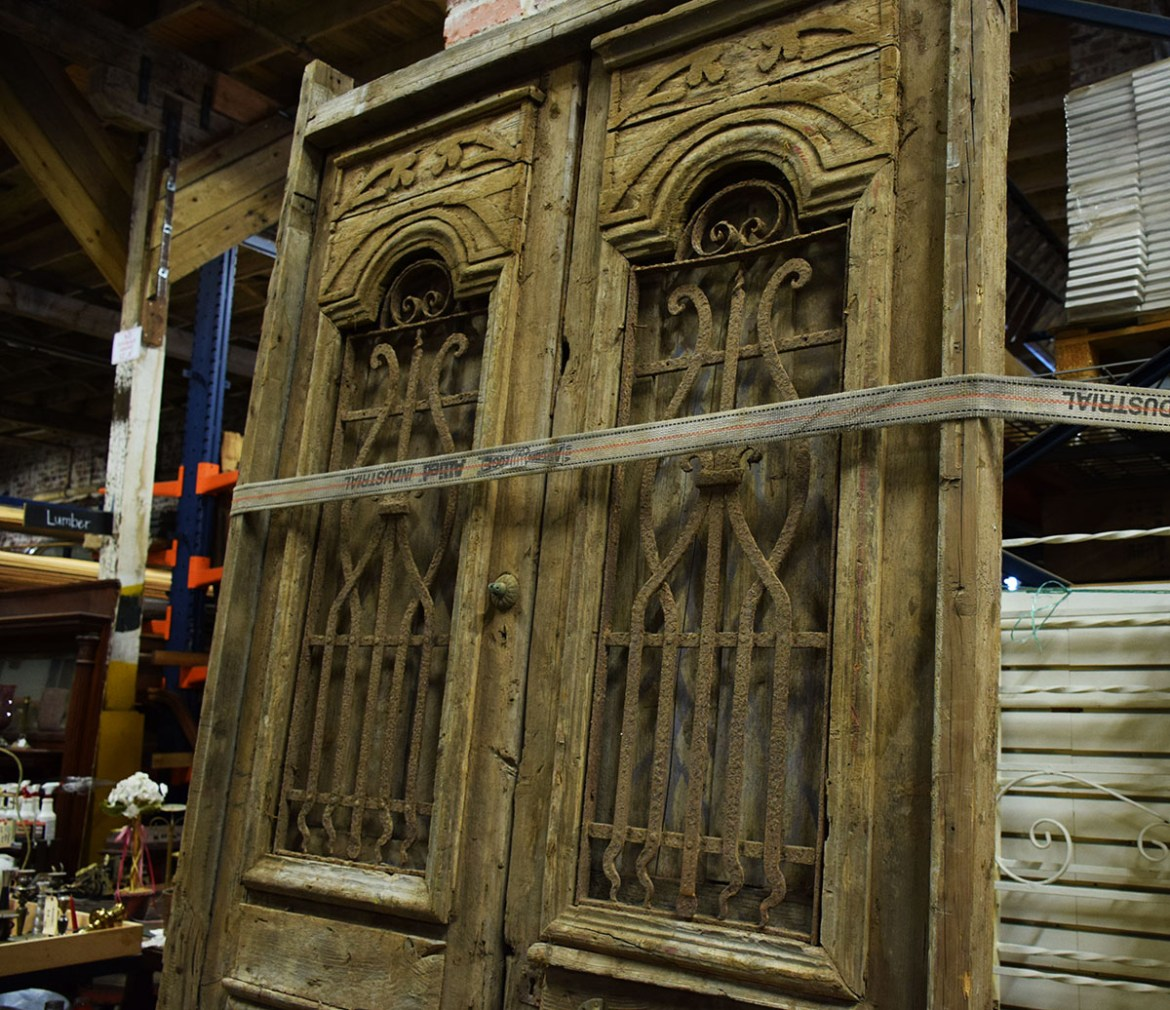 This set of Egyptian doors really has some nice hand crafted detail.