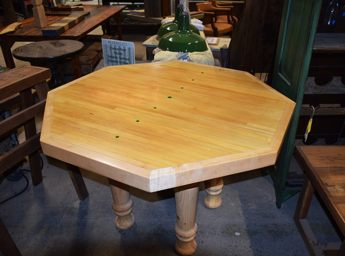 This beautiful bowling lane table is now finished and ready for a new home.