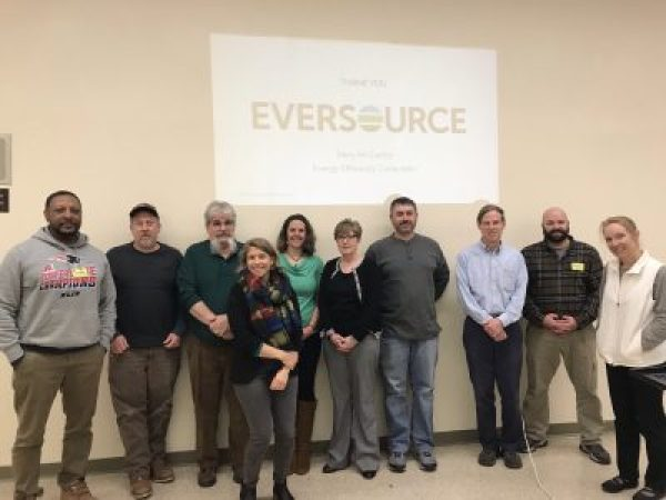 2018–2019 LEED Prep Pilot Teachers with Abby Randall and Tabitha Yeager of EcoRise, and Mary McCarthy of Eversource.