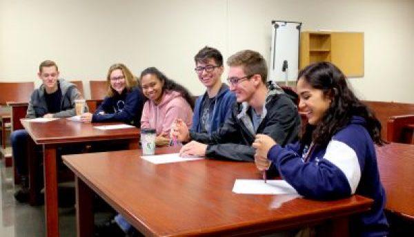 2019–20 Green Building Interns during orientation at Akins High School. December, 2019.