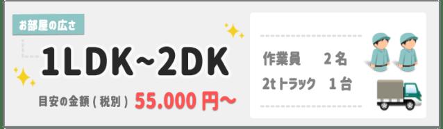 1LDK~2DKの遺品整理の料金目安