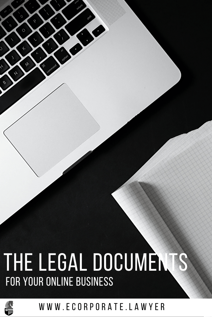 website legal pages, documents & contracts