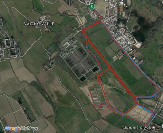 mappa del parco della vettabbia a milano, tappa della gp ecorun