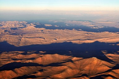 Aerial view of the Atacama Desert in Chile