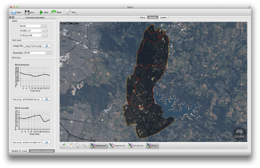 screen shot of an aerial map with shaded area