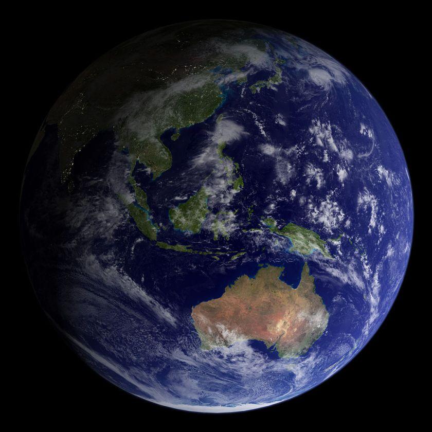 satelite image of Earth