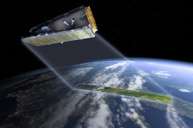 computer generated image of satellite