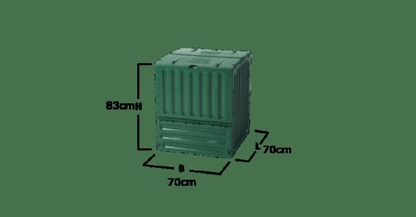 27 Eco-king opvouwbaar compostbak 400L, super handig 3