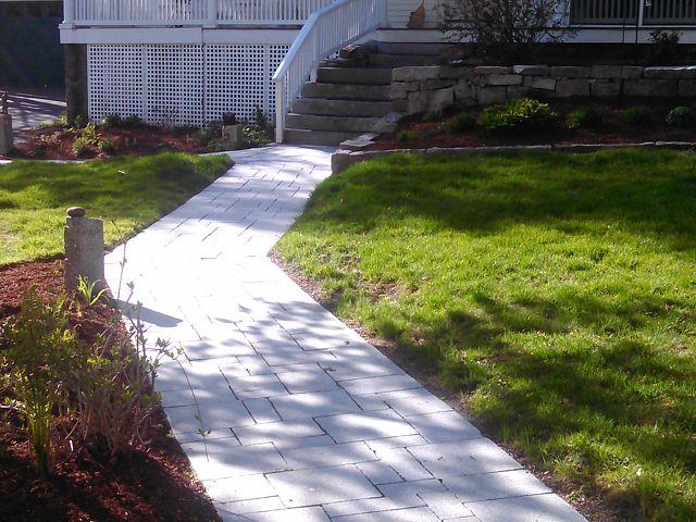 Granite paver walkway