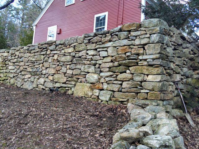 Rebuilt stone wall