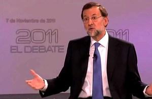 Rajoy en el debate de 2011