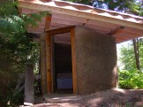 Public washroom with composting toilet under construction