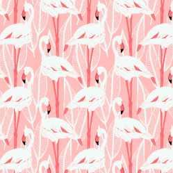 CE1 Canvas Ecru Flamingos