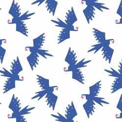 CS5 Canvas Slim Tropical Birds