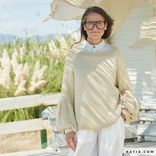 patron-tejer-punto-ganchillo-mujer-jersey-primavera-verano-katia-6254-19-g