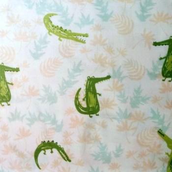 tela patchwork mascarillas cocodrilos