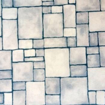 tela patchwork mascarilla muro castillo