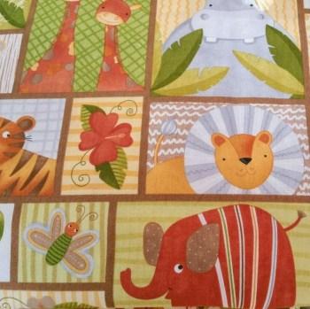 tela patchwork mascarillas animales en cuadros