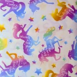 tela patchwork mascarillas unicornios arcoiris