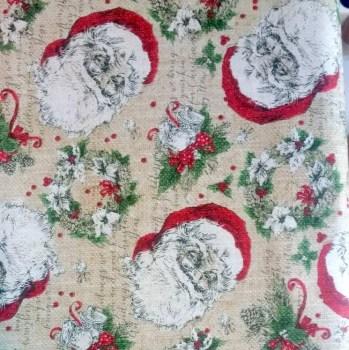 tela_patchwork mascarilla vintage christmas papa noel