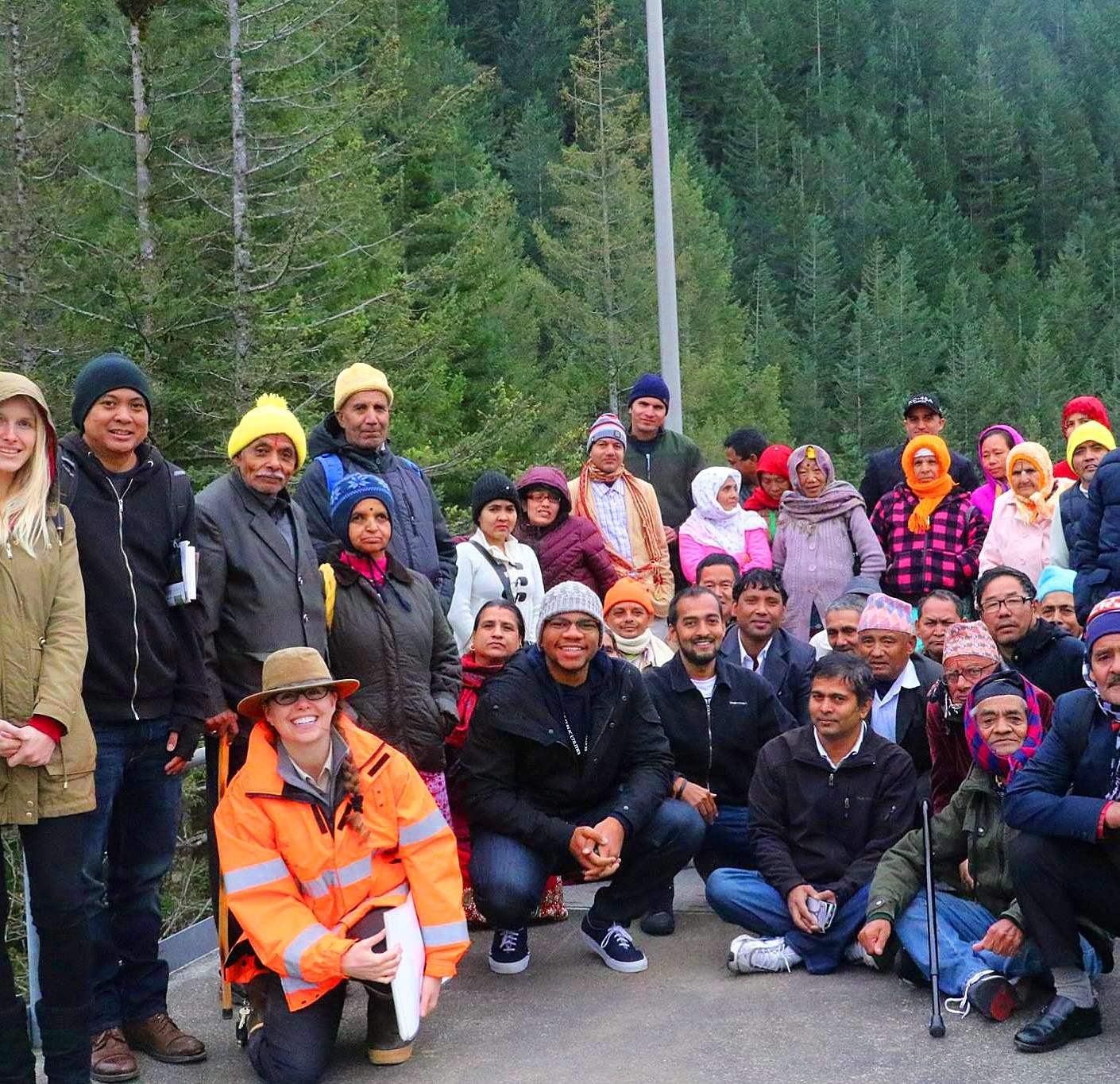 Bhutanese Community Members at Cedar River Watershed