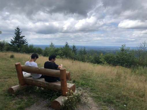 The group enjoyed the benches at each vista. Photo Credit: Charles Law / ECOSS.