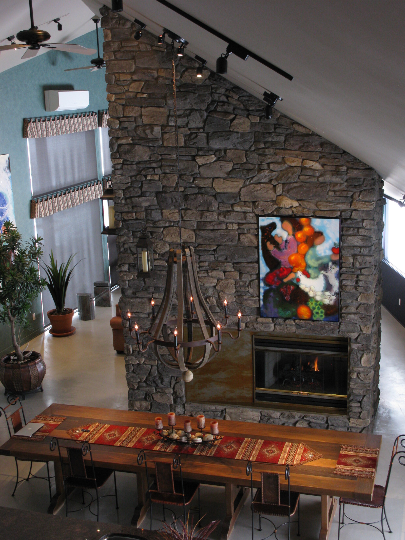 Rustic Dining Room Fireplace Ecostone Products
