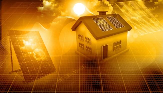 Solar-powered house