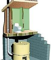 Carousel composting toilet - diagram