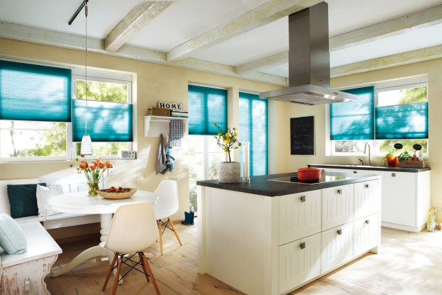 Duette blinds, kitchen blinds, energy saving