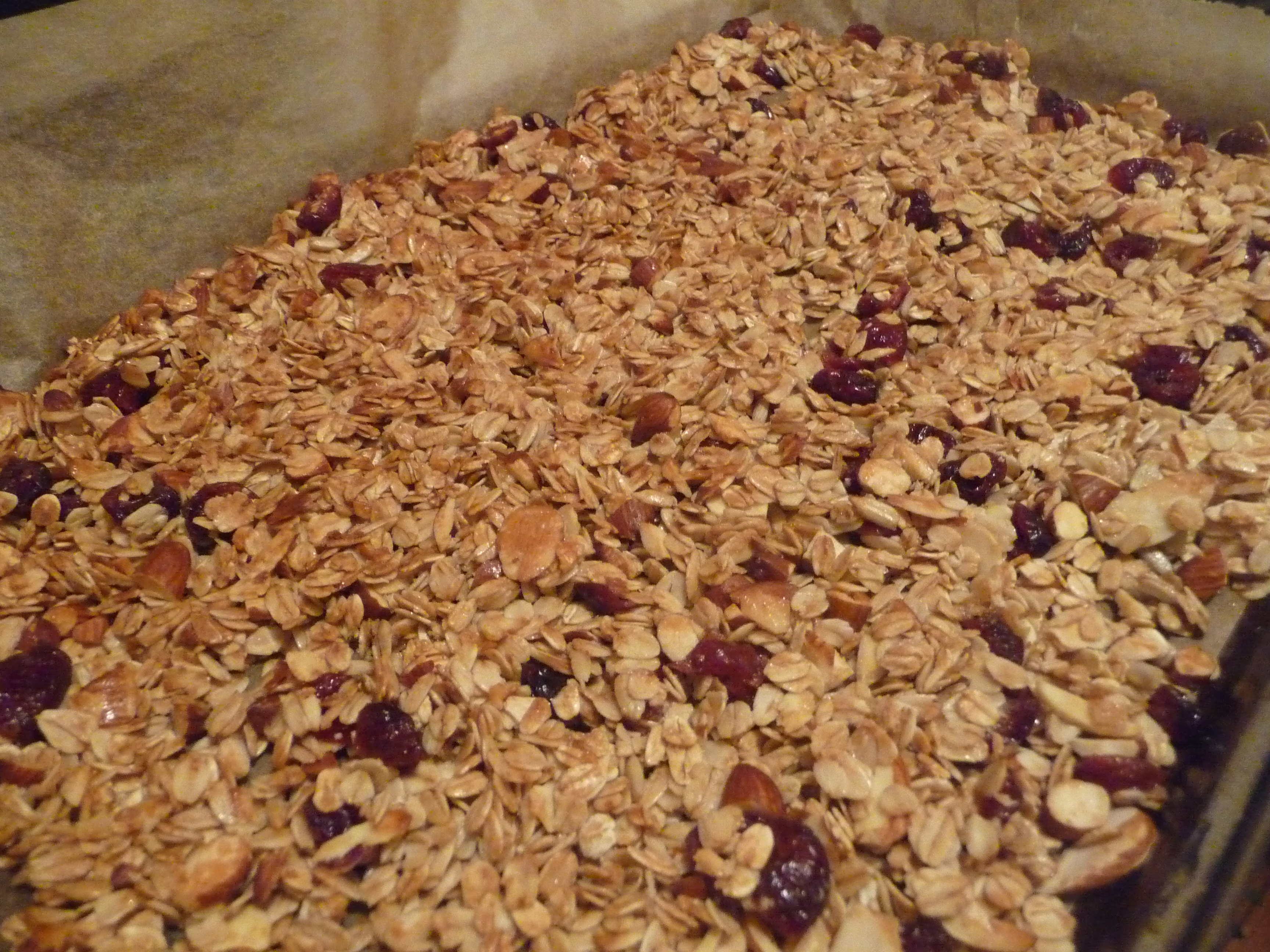 Granola after baking