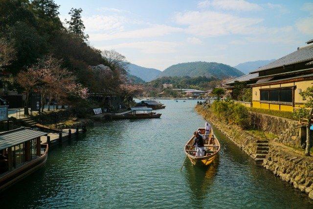 日本 田舎 川 ボート