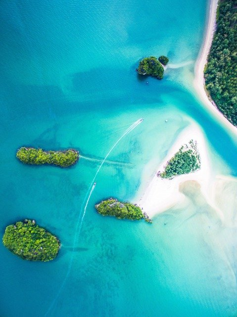 islands view from sky