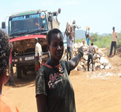 Alice pointing to the big truck that was previously 160000 bt is now at 210000shs.This has enabled her increase her incomes