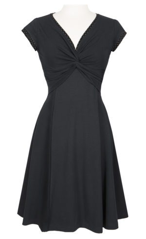 Twist dress - Black - A nice everyday dress made from Eco cotton
