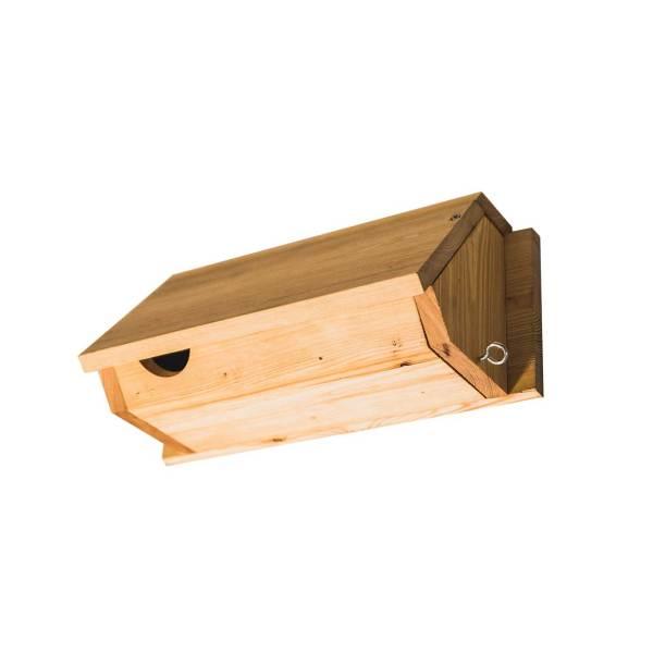 Gierzwaluwnestkast, gemaakt uit lariks. Deze nestkast is op maat gemaakt voor gierzwaluw.