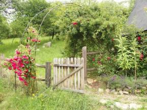 Mandala Garden entrance with Roses