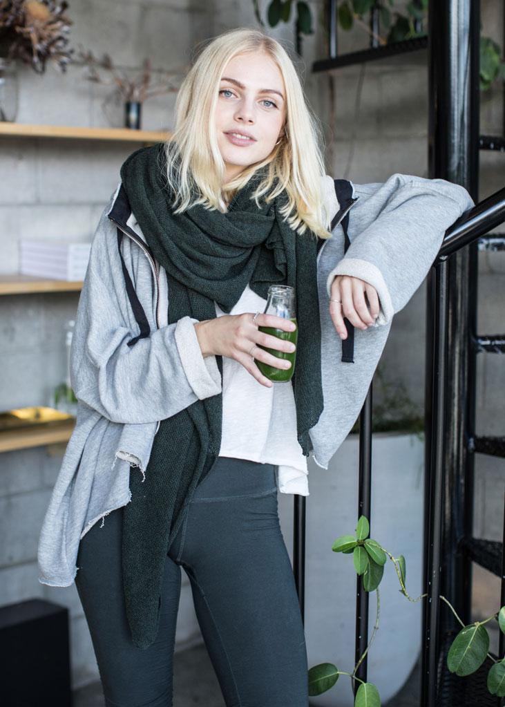 WE-AR Yoga AW18 Caja Zip Hoodie Sustainable Fashion New Zealand