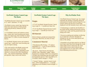 Erosion Control Wattles Details Link