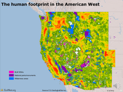 an footprint in American West