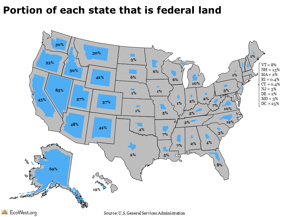 Who owns the West: federal land by state - EcoWest.org